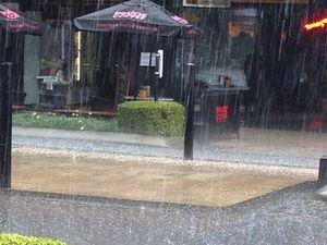 Hail hits Sunshine Coast
