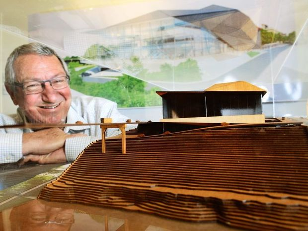 Charlie Pisasale believes that a new performing arts centre will be great for Ipswich. Photo: David Nielsen / The Queensland Times<EP>