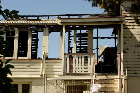 The Hume St house destroyed by fire at approximately 1am this morning.