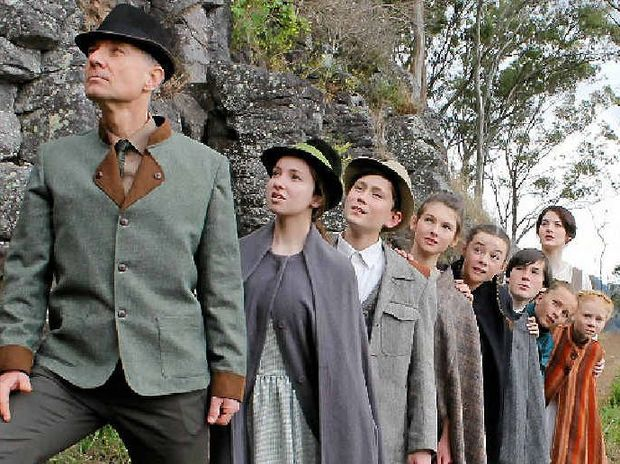 FAMILY TIMES: Ready to step into the roles of the iconic von Trapp family are (from left) Russell Reynolds, Alexandra Stewart, Watson Blaikie, Georgia Gouldson, Isabel Lanigan, Asher Wighton, Lauren Baryla, Jocelyn Smith along with Shannon Gralow. INSET: Shannon Gralow as Maria.