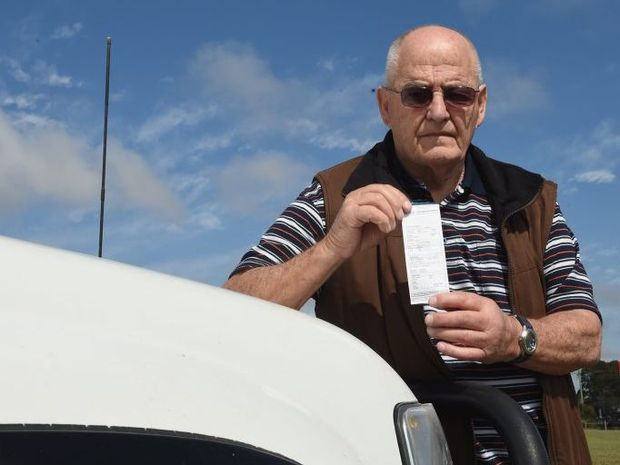 John Frescura was fined $113 for parking illegally at the Hervey Bay Hospital.