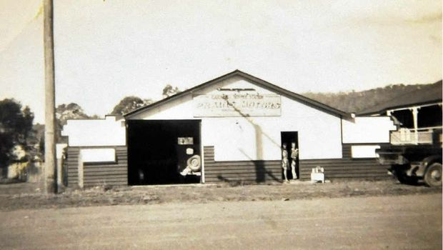 PIECE OF HISTORY: Prain's Motors, which stood where the Old Fernvale Bakery stands today, was proudly opened by Harold Norman Prain and his wife, Lorraine, in 1946.