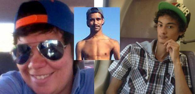 Three of the four Newrybar crash victims: Jessica (Jesse) Camidge (left), William Manton (centre) and Richard Wells.