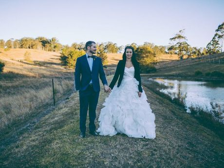 The wedding of Reece Goode and Lisa Jenkins at Mt Mee in July 2014.