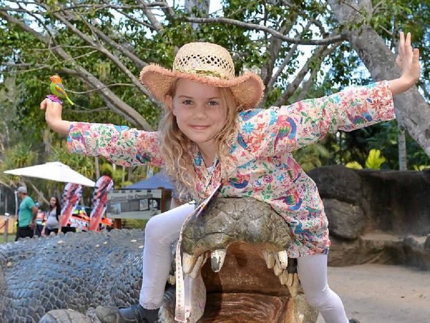 BIRTHDAY TO REMEMBER: Amelie Coates spent her ninth birthday at Australia Zoo for the RACQ Australia Zoom weekend.