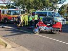 Elderly motorbike rider has facial and spinal injuries