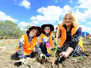 Students join in planting day to revive site