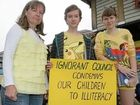 Narangba residents protest against closure of library