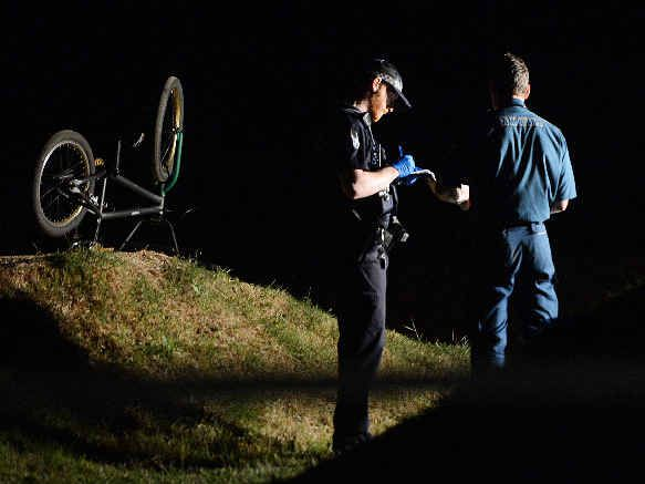 The scene of a fatal BMX crash at the Cooloola BMX club behind the One Mile Ovals on Sunday evening.