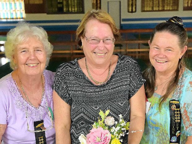 PERFECT EVERY TIME: Celebrating 30 years of the Sunshine Coast Branch of the Queensland Cake Decorators Association at the Golden Beach are (from left) Dorothy Pridham, Judith Brosnon and Dawn Hebblewhite.