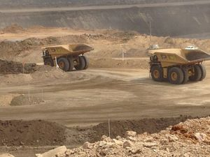 Haul trucks at BHP Billiton Mitsubishi Alliance's new Daunia mine in Central Queensland. PIC: OWEN JACQUES