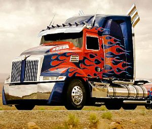 Optimus Prime styling.