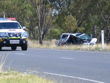 The crash on the Moonie Hwy near Dalby.