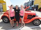 Show Us Your Toy car show and charity day - Maddy Beel, Jade Hodges and Caitlin Willis volunteering at the charity day. Photo: Alistair Brightman / Fraser Coast Chronicle