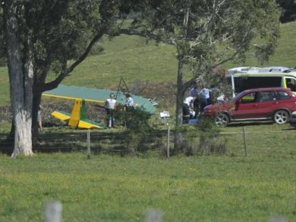 Emergency services respond to an air vehicle crash near Knockrow off Martin's Lane.