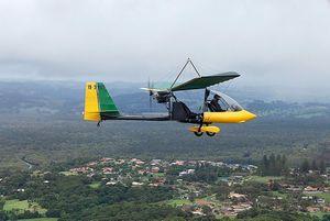 The plane that crashed at Knockrow on Monday morning. Photo Contributed Ballina Aero Club