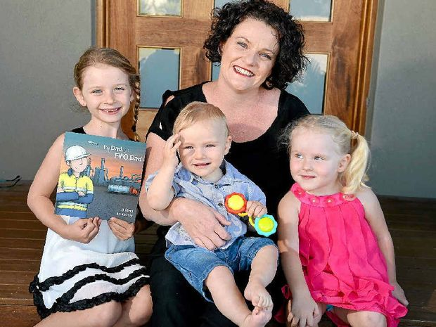 FAMILY READ: New children's book author Jo Emery with her children Sahskia, 7, Grayson, 11 months, and Ahnika, 3.