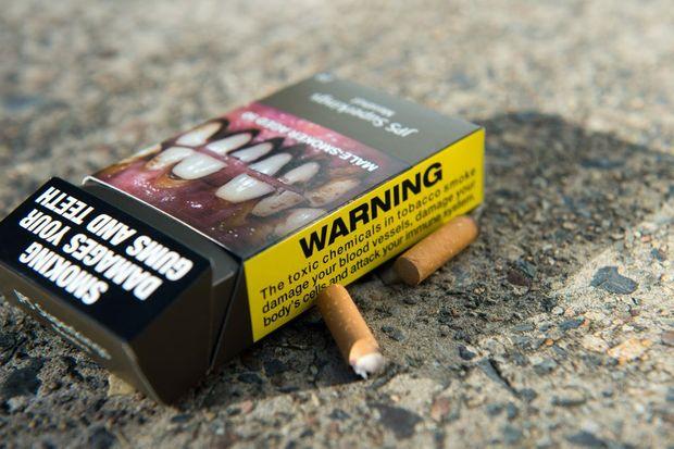 smoking, cigarette packet , plain packaging. Photo Trevor Veale / Coffs Coast Advocate