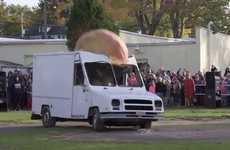 Watch a 544kg pumpkin crush a van at the Conneaut Lake Park Pumpkin Fest 2014.