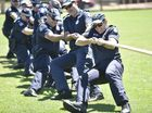 St Mary's College students vs Police in annual tug of war. Photo: Bev Lacey / The Chronicle