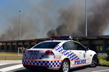 Small wildfire burns out of control at Girraween in Sunshine Beach posing no danger to property at the moment. Photo Geoff Potter / Noosa News