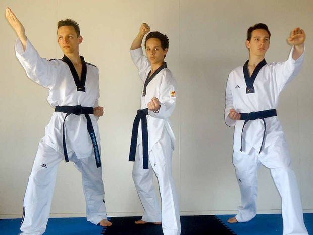 UNITED FOCUS: Kakakios brothers Stephen, John and Michael are preparing to represent Australia in taekwondo at next month's Commonwealth championships in Scotland.