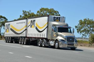Big Rigs rode passenger in the CT630SC for some of the road trip from Townsville to Bundaberg - part of the Cat Trucks Road Show. Photo Carly Morrissey / Big Rigs