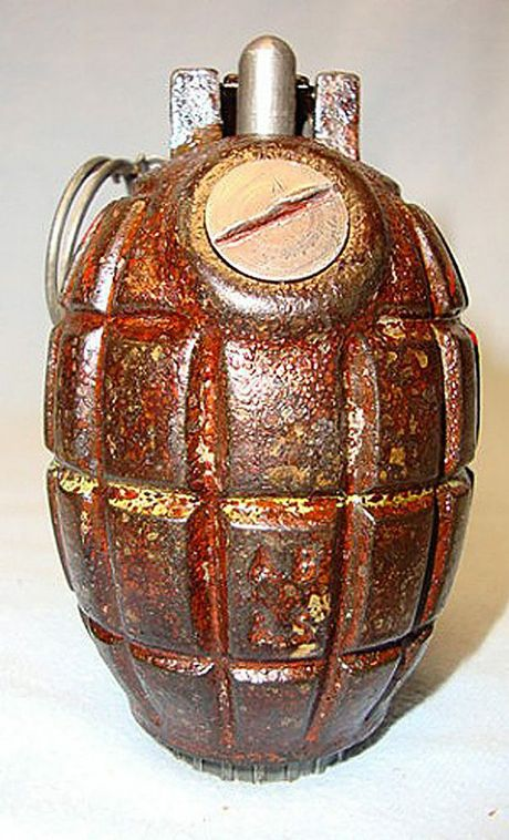 A grenade similar to this one was found in Maryborough.