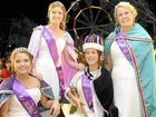 REIGNING GLORY: Holiday princess runner up Stephanie Elliott and Holiday Princess Madeline McDonald (at rear) and Jacaranda Princess Rachael Mackenzie and Jacaranda Queen Emily Causley.