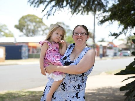 Newtown mum Felicia Dexter wants to say thanks to the good Samaritan whom she believes saved her daughter Rebecca's life when she ran onto busy Hill St.