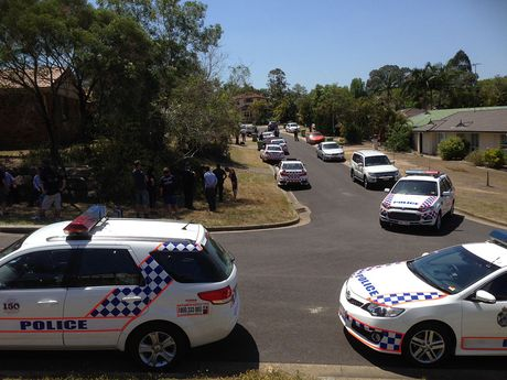 Police cordoned off McCormack Ct, Collingwood Park following reports of a siege.