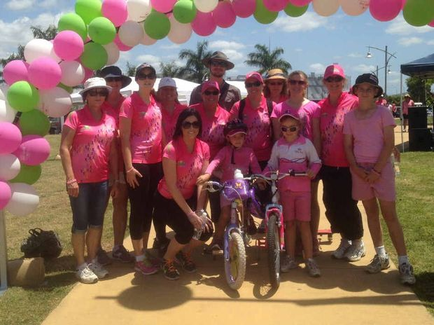 Participants at the Pink Day in the Valley's Polli Waddle community charity walk that raised $6000.