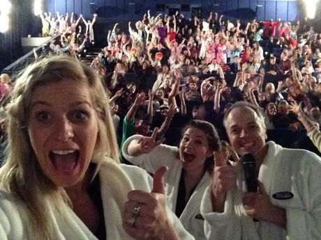 Toowoomba sets the world record for the most people wearing bathrobes in one place at the same time.