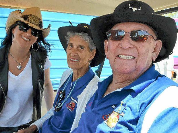 Jayne Denham with The Ferret John Moran and Margo Moran.