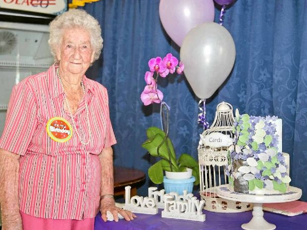 DELIGHTED: Iris Radnott was overcome with emotion when family members travelled from across the state to celebrate her 90th birthday on November 1.
