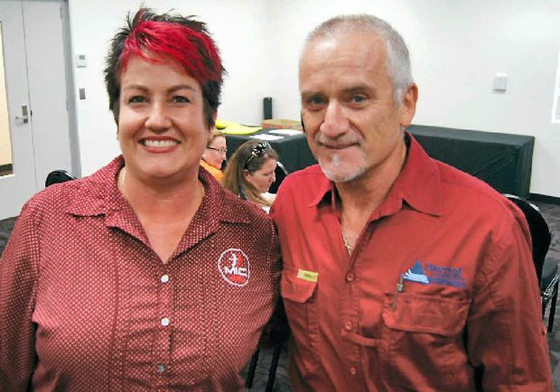 MATES: MIC central Queensland field officer Ruth Thompson and John Sirotti found a common passion.
