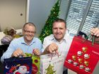 APN Australian Regional Media CEO Neil Monaghan and campaign patron Shane Webcke launch the Adopt-A-Family appeal for 2014.