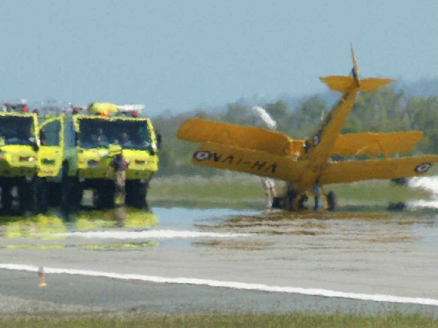 Mackay Airport Aviation Rescue and Fire Fighting units were quick to respond to a plane emergency.