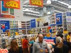 Shoppers in Spotlight on the Hervey Bay store's first day of trading.