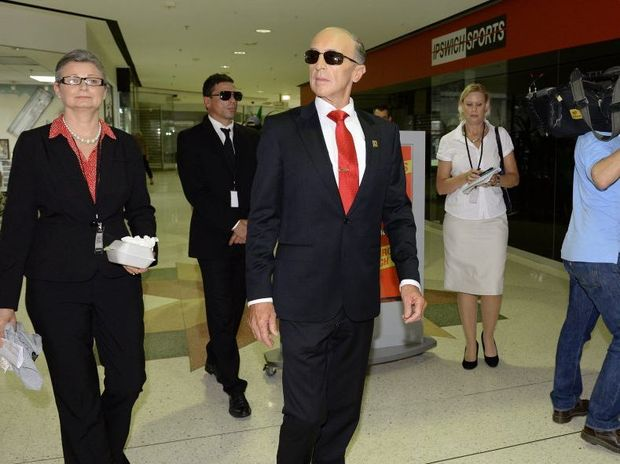 A fake Vladimir Putin graced the Ipswich Mall on Wednesday as part of a segment for the Channel Ten show 'The Project'.