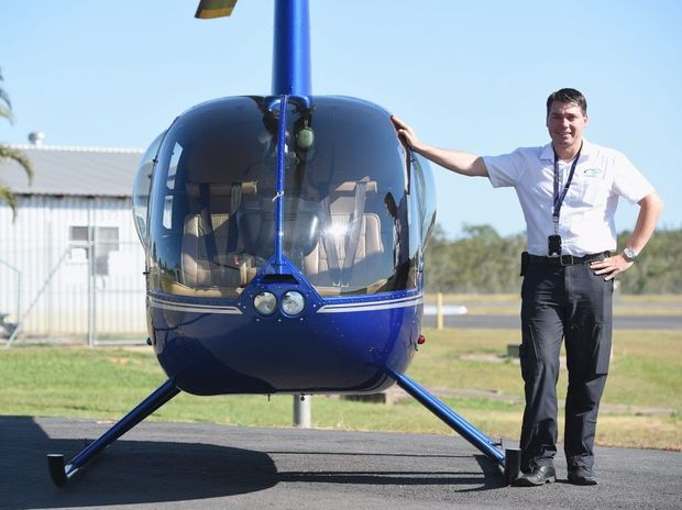 Wayne Thurston from Compass Helicopters at the Hervey Bay Airport.