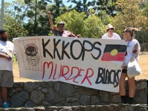 G20: Rally against Aboriginal deaths in custody