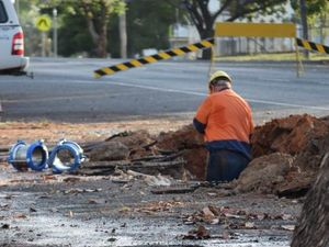 Burst water main cuts supply at Goodna