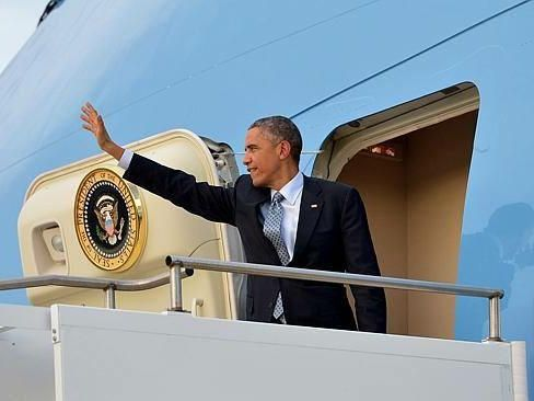 Barack Obama in Brisbane. Photo: Nicky Stewart