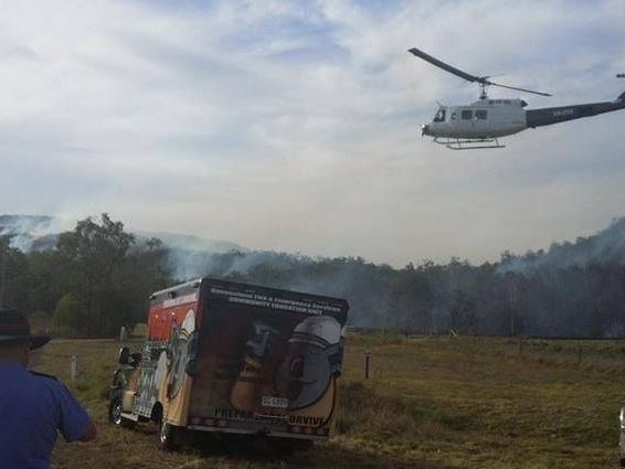 South Eastern region Volunteer Community Educators stationed at Esk on the weekend (photo courtesy QFES Facebook).