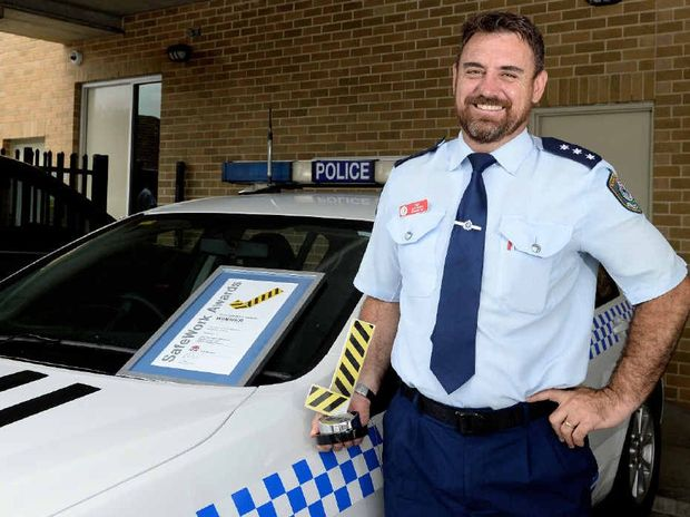 DON'T GIVE UP: Richmond Local Area Command education development officer Sgt Mat Johnson has been awarded a SafeWork Award from NSW WorkCover.