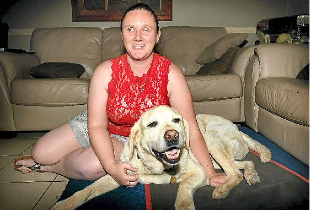 JOB HUNT: Rachael Berka with her guide dog Xaviar is looking for work.