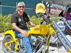 """<strong>MONDAY MALE:</strong> Harley rider Gary """"Dogs"""" Anderson uses his custom bikes for a good time and a good cause."""