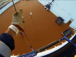 Cruise ship winch rescue