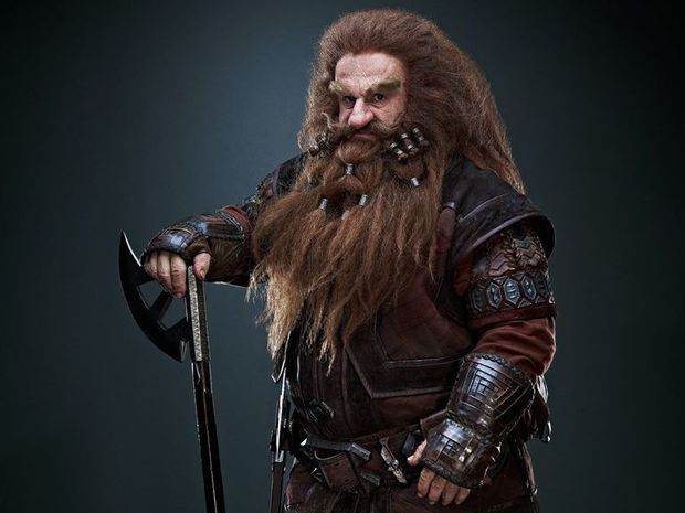 Peter Hambleton as Gloin in The Hobbit trilogy.